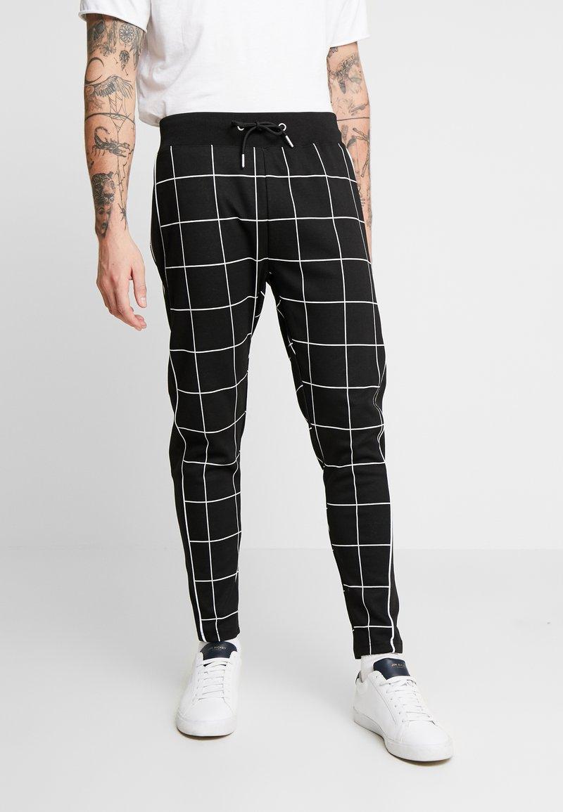 Topman - WINDOWPANE  - Pantaloni sportivi - black