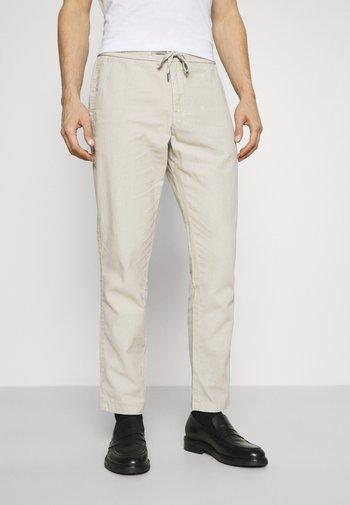 ELASTIC WAIST PANTS - Pantaloni - off white mix
