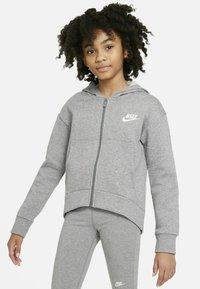 Nike Performance - Hoodie met rits - carbon heather white - 1