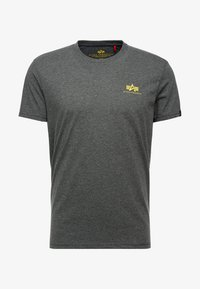 Alpha Industries - BASIC SMALL LOGO - T-shirt basic - charcoal heather - 3