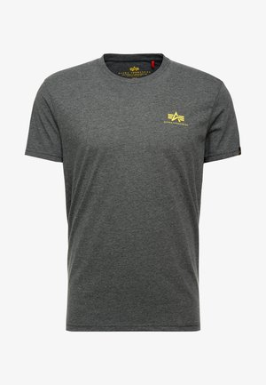 BASIC SMALL LOGO - T-shirt - bas - charcoal heather