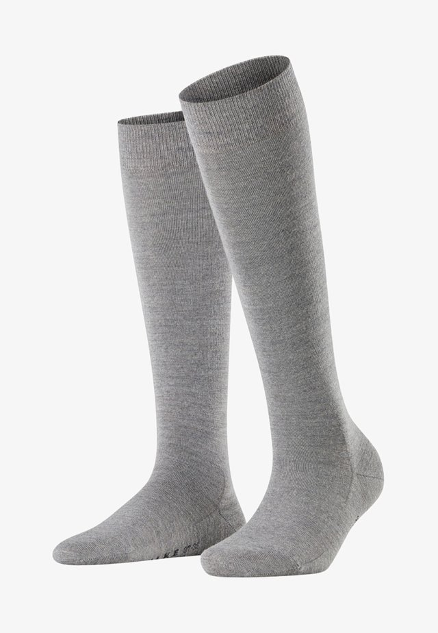 Knee high socks - light grey