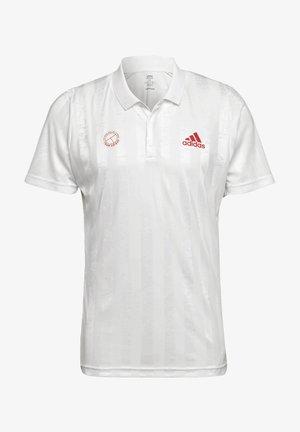 Polo shirt - white / scarlet