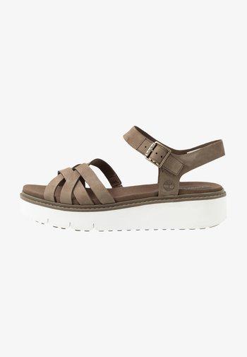 SAFARI DAWN - Platform sandals - olive
