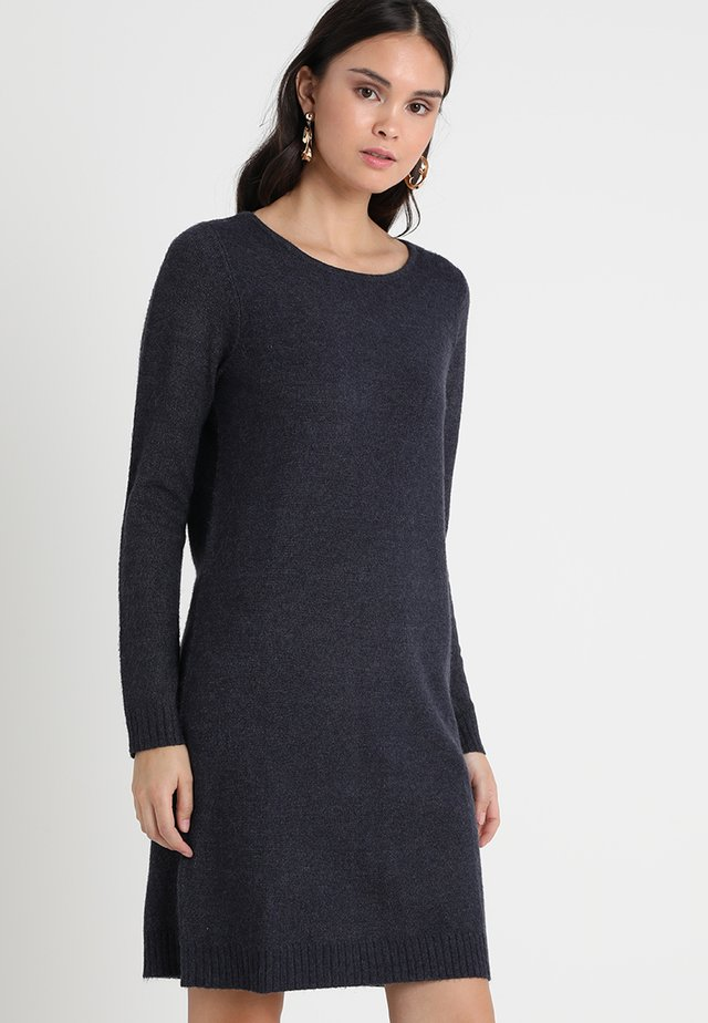VIRIL DRESS - Gebreide jurk - total eclipse melange