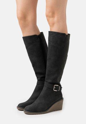 HELENA - Wedge boots - black