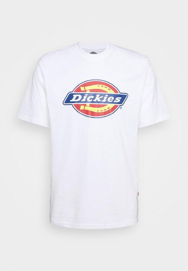 Dickies ICON LOGO TEE - T-shirt z nadrukiem - white/biały Odzież Męska UAIW