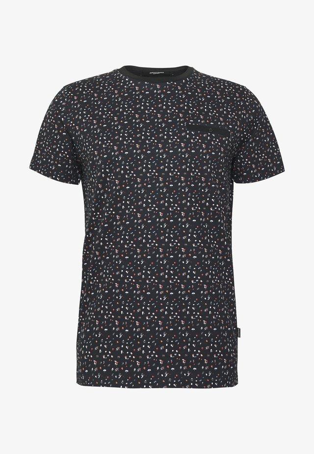 JPRBLACKPOOL BLA TEE - T-shirt med print - black/reg