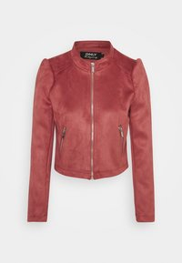 ONLY - ONLSHELBY CROP BONDED JACKET  - Giacca in similpelle - baroque rose - 3