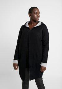 Evans - HOODED COATIGAN - Mikina na zip - black - 0