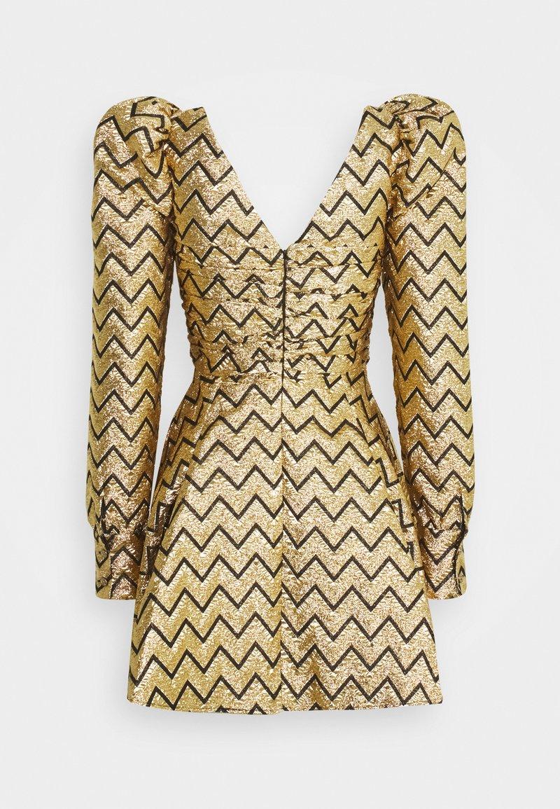 Versace Jeans Couture Cocktailkleid Festliches Kleid Gold Goldfarben Zalando De