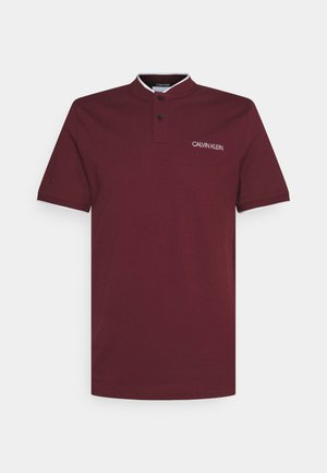 STRETCH TIPPING  MAO SLIM FIT - Polo shirt - tawny port