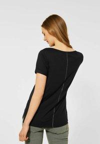 Street One - MIT PARTPRINT - Print T-shirt - schwarz - 1