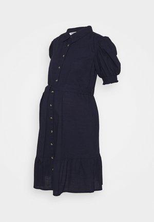 PUFF SLEEVE SHIRT DRESS - Day dress - navy