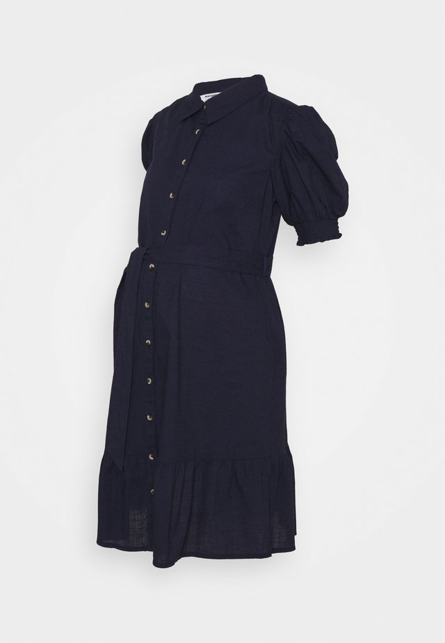 PUFF SLEEVE SHIRT DRESS - Vardagsklänning - navy