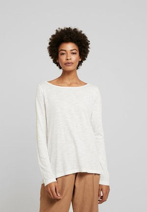 LONG SLEEVE BOATNECK - Long sleeved top - soft white