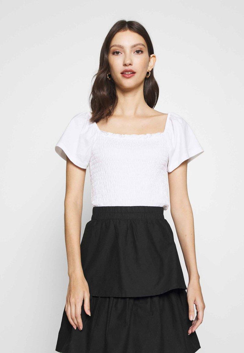 Monki - RIVA  - Print T-shirt - white