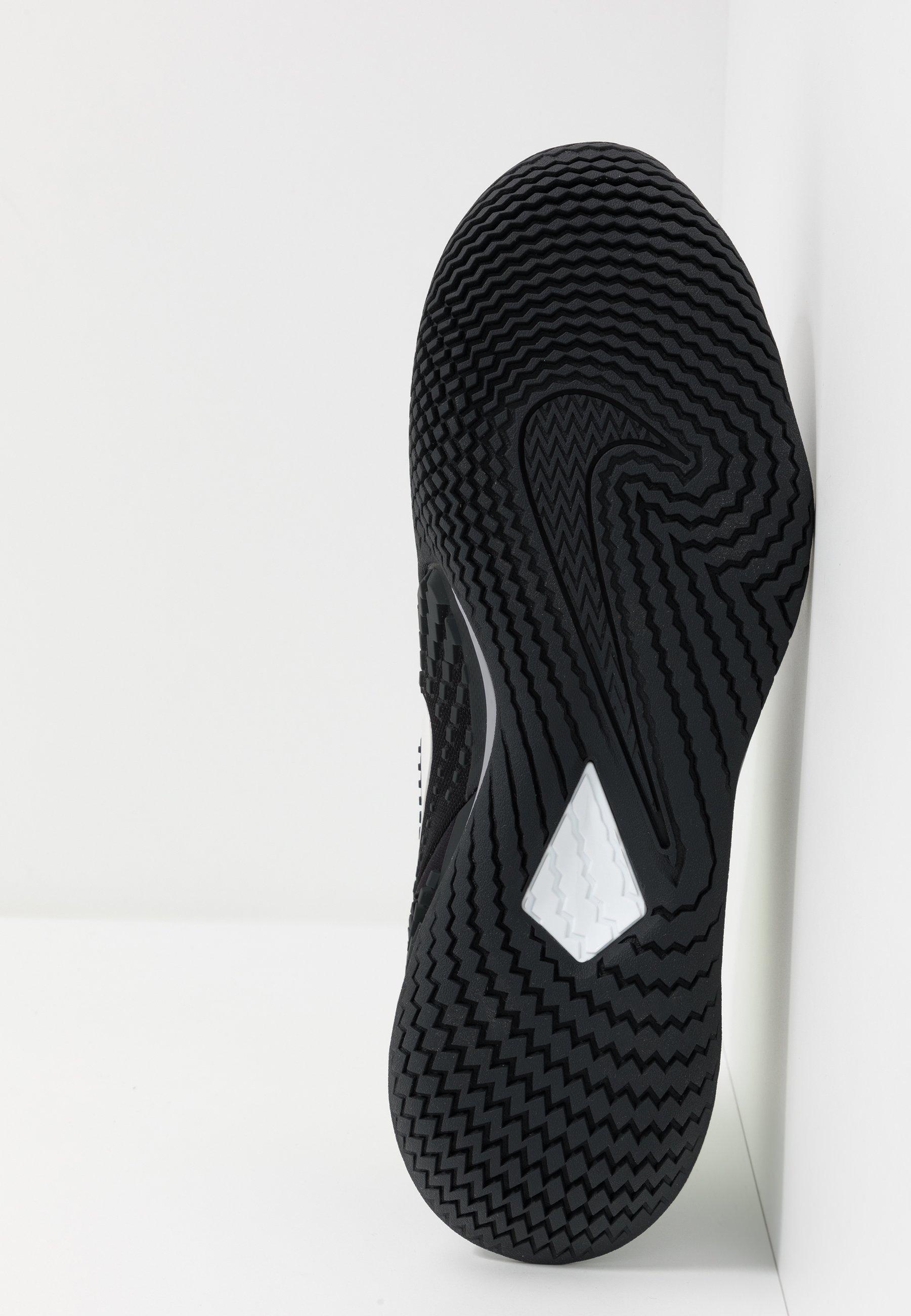 Negozio Scarpe da uomo Nike Performance AIR ZOOM VAPOR CAGE 4 Scarpe da tennis per tutte le superfici black/white/volt/dark smoke grey