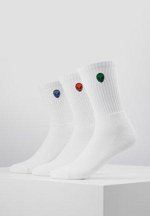 ALIEN SOCKS 3 PACK - Socks - white
