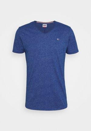 SLIM JASPE V NECK - Jednoduché triko - blue