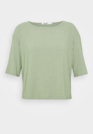 ROUND NECK TEE - Print T-shirt - khaki