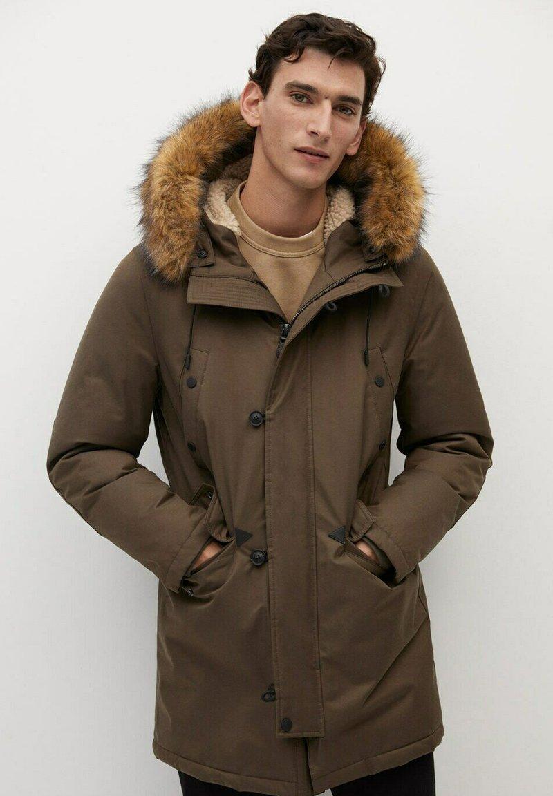 Mango - Winter coat - kaki