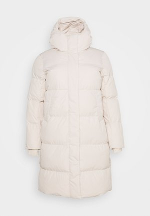 LONG PADDED DUVET COAT - Veste d'hiver - ecru