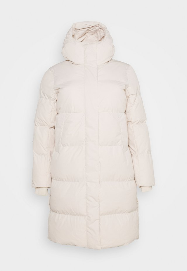 LONG PADDED DUVET COAT - Winter coat - ecru