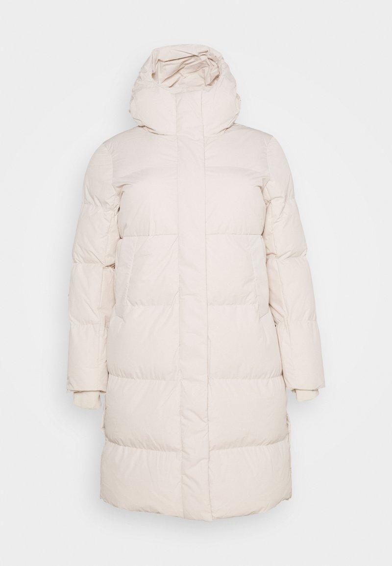 CAPSULE by Simply Be - LONG PADDED DUVET COAT - Winter coat - ecru