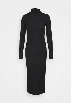 HIGH NECK SLIT DRESS - Jumper dress - black