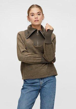 Pullover - dark brown