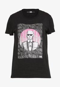 KARL LAGERFELD - ENDLESS - T-shirt z nadrukiem - black - 3