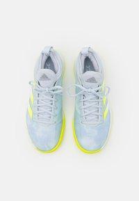 adidas Performance - DEFIANT GENERATION  - Multicourt tennis shoes - half blue/solar yellow/footwear white - 3