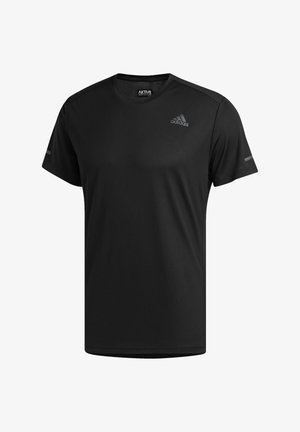 RESPONSE AEROREADY RUNNING SHORT SLEEVE TEE - T-shirt z nadrukiem - black