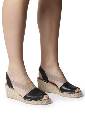 TEIDE - Wedge sandals - black