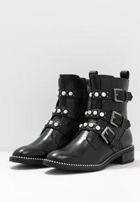 Tamaris - WOMS BOOTS - Cowboy/biker ankle boot - black - 4