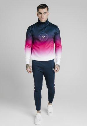 Sweater - navy/pink/white