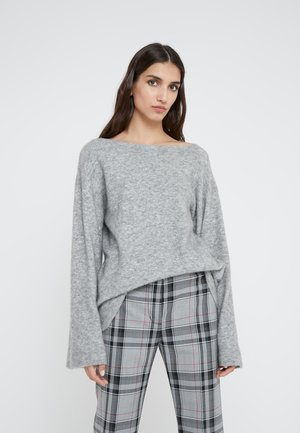 LOFTY BOAT NECK BELL  - Sweter - medium heather grey