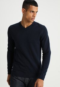 Jack & Jones - JJEBASIC  - Strickpullover - navy blazer - 0