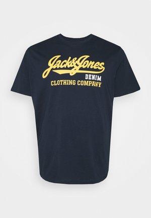 JJELOGO TEE O NECK - T-shirt med print - navy blazer