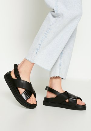 DARCIE - Korkeakorkoiset sandaalit - black