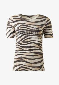 Clarina - ZEBRA - Print T-shirt - scwarzweisssand - 0