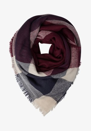Tuch - dark blue/bordeaux/nude