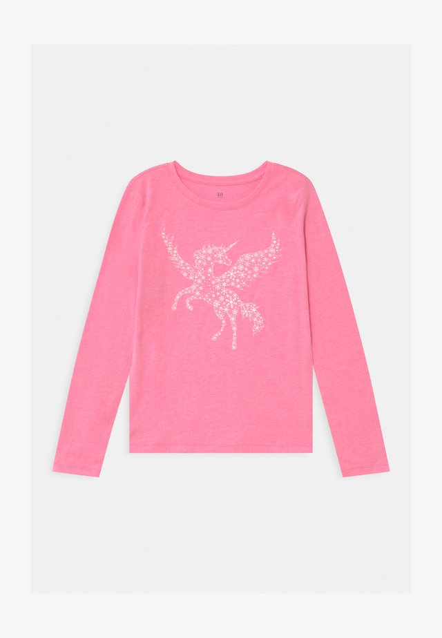 GIRL - Long sleeved top - neon pink rose