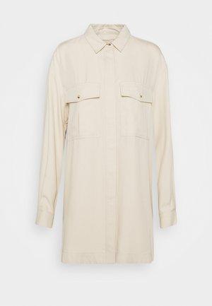 ELOISE LONG OVERSIZE - Camisa - oyster grey