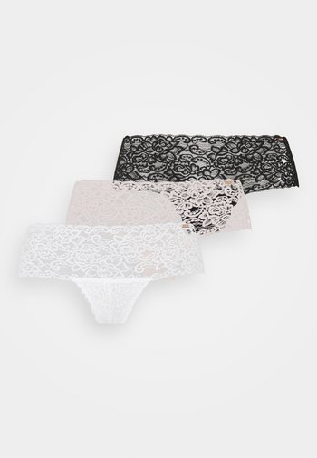 3 PACK - Slip - grey/beige/ivory