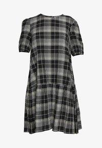 PUFF SLEEVE SMOCK MINI - Day dress - black