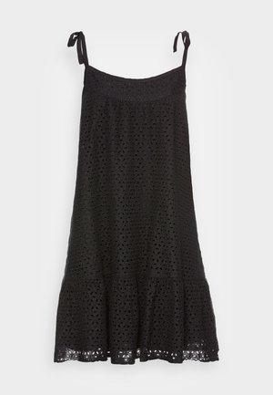 EYELET MINI SWING - Day dress - true black