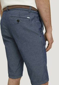 TOM TAILOR - Shorts - blue indigo structure - 4