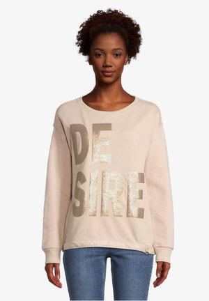 MIT PAILLETTEN - Sweater - beige